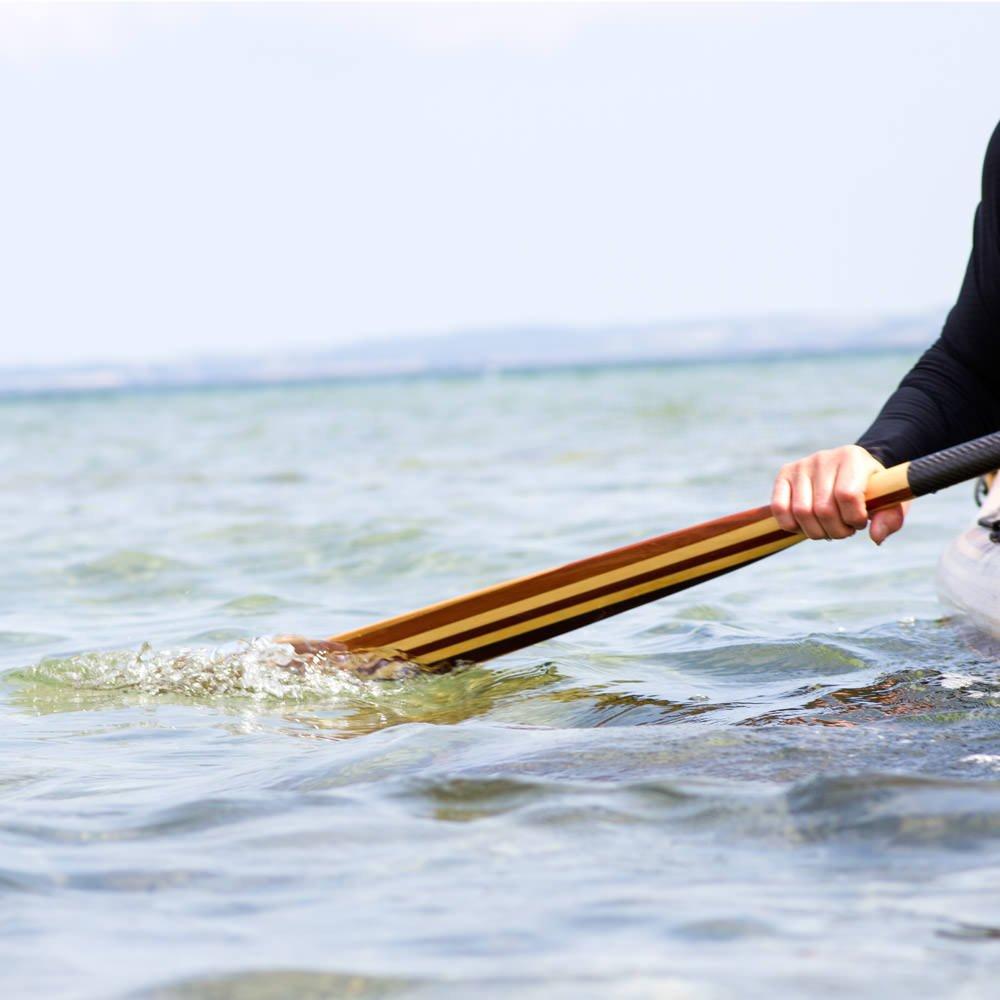 Wood paddle